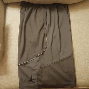 Jordan dark grey basketball shorts